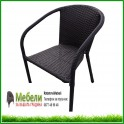 Плетен ратанов стол за външни условия ВИТО