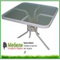 Градинска маса за външни условия, квадратна