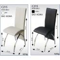Трапезарен стол хром никел С215