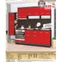 Кухня в червено СИТИ 242