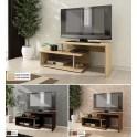Функционален ТВ шкаф Алфа 50 - дъб сонома, венге и мерано