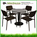 Кръгла маса и четири стола