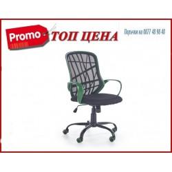 Офис стол DESSERT зелено-черен