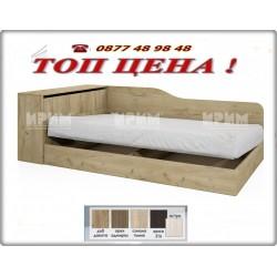 Легло CITY 2002 с матрак в цвят дъб дакота