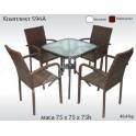 Комплект градинска маса и четири стола