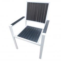 AM-1034  бял стол изработен от метал