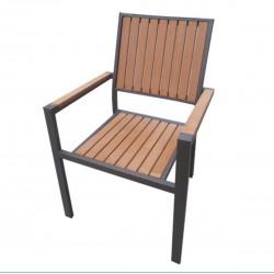 AM-1034  кафяв/тик стол изработен от метал