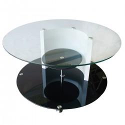 Кръгла холна стъклена масичка - закалено стъкло