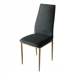 Трапезен стол W-68-B черен, сив , кафяв